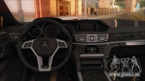 Mercedes-Benz E63 AMG 2014 für GTA San Andreas obere Ansicht
