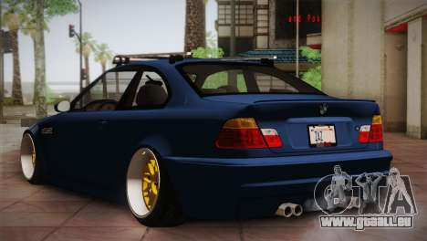 BMW M3 E46 Hellaflush für GTA San Andreas rechten Ansicht