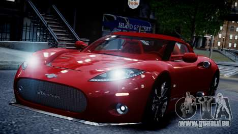 Spyker C8 Aileron Spyder v2.0 für GTA 4