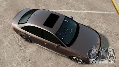 Audi S4 2013 Unmarked Police [ELS] pour GTA 4 est un droit