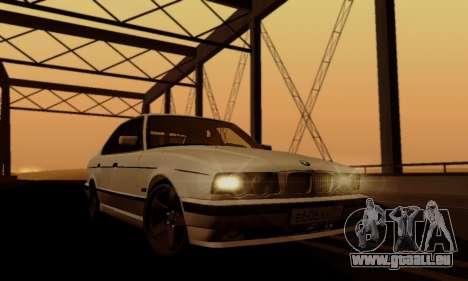BMW 525 Re-Styling pour GTA San Andreas vue de dessus