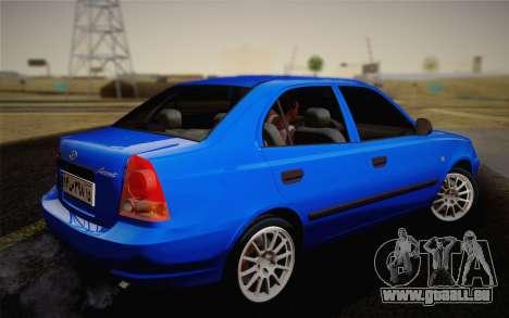 Hyundai Accent Admire 2004 pour GTA San Andreas laissé vue