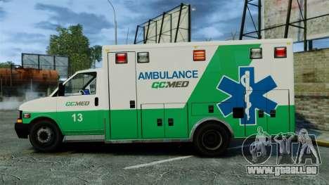 Brute GQ Med Ambulance [ELS] für GTA 4 linke Ansicht