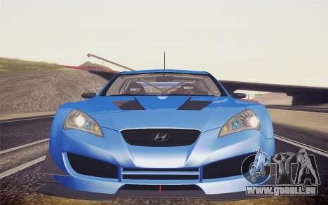 Hyundai Genesis Coupe 2010 Tuned für GTA San Andreas zurück linke Ansicht
