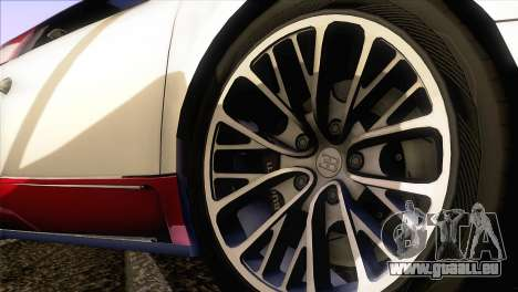 Bugatti Veyron 16.4 pour GTA San Andreas vue de droite