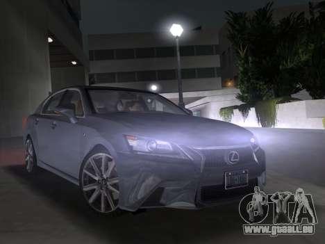 Lexus GS350 F Sport 2013 für GTA Vice City Rückansicht