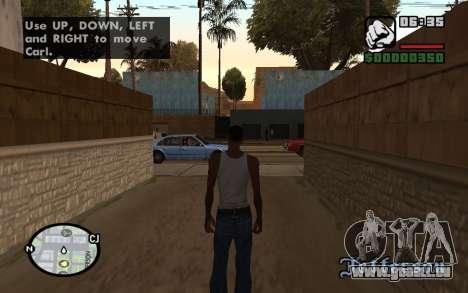 HQ Radar by Rockstar pour GTA San Andreas deuxième écran