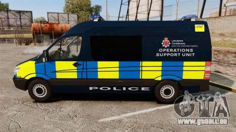 Mercedes-Benz Sprinter Police [ELS] pour GTA 4 est une gauche