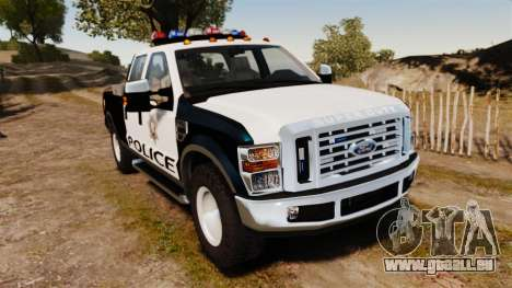 Ford F-250 Super Duty Police [ELS] pour GTA 4