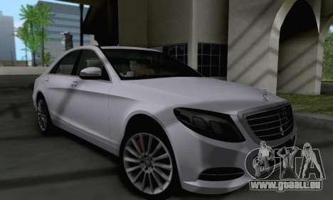 Mercedes-Benz W222 pour GTA San Andreas laissé vue