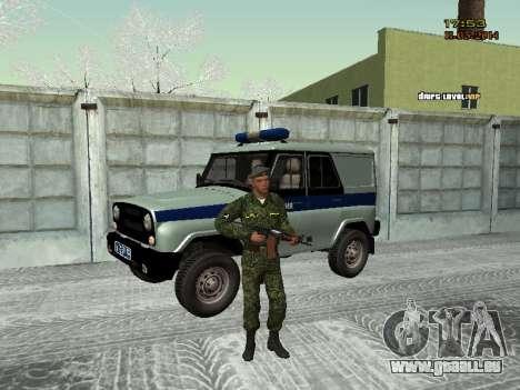 Le skin du combattant SIÈCLES MIA pour GTA San Andreas deuxième écran