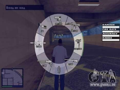 GTA 5 HUD v2 für GTA San Andreas sechsten Screenshot