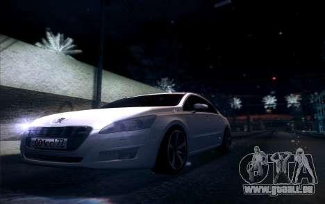 Peugeot 508 2011 v2 für GTA San Andreas Innenansicht