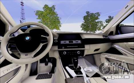 BMW 550 F10 xDrive für GTA San Andreas rechten Ansicht