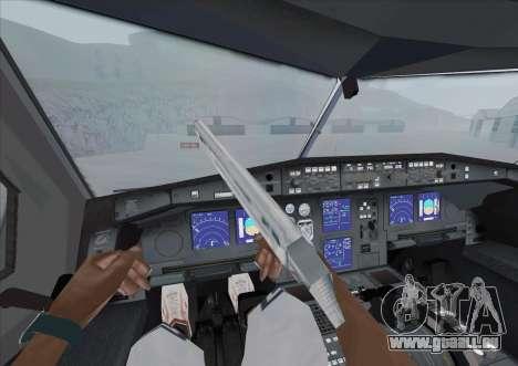 Airbus A340-600 pour GTA San Andreas vue arrière