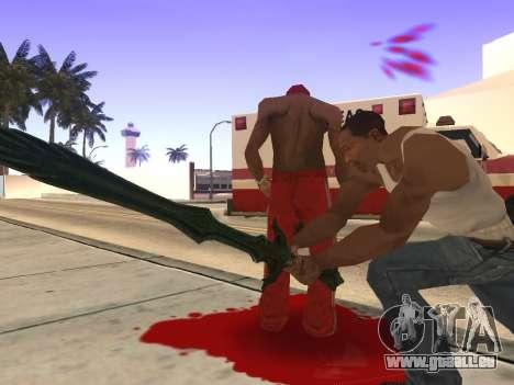 Verre Épée de Skyrim pour GTA San Andreas quatrième écran