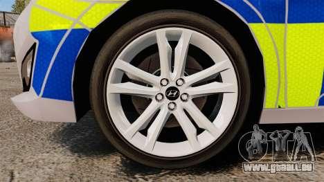 Hyundai i40 2013 Metropolitan Police [ELS] pour GTA 4 Vue arrière