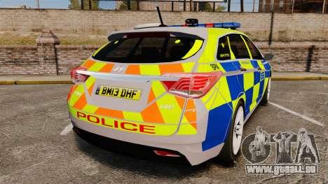 Hyundai i40 2013 Metropolitan Police [ELS] pour GTA 4 Vue arrière de la gauche