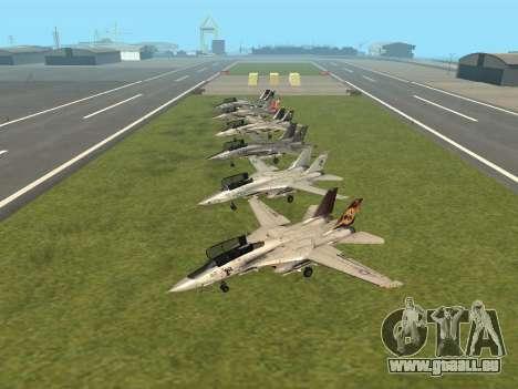 F-14 Tomcat-HQ für GTA San Andreas linke Ansicht