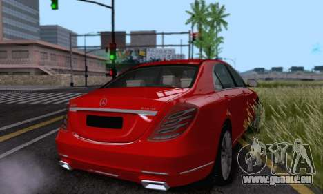 Mercedes-Benz W222 pour GTA San Andreas vue intérieure