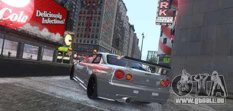 Nissan Skyline GTR-34 Nismo Z-Tune für GTA 4 hinten links Ansicht
