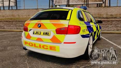 BMW 530d Touring Lancashire Police [ELS] für GTA 4 hinten links Ansicht