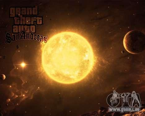 De nouveaux écrans de démarrage de l'Espace pour GTA San Andreas quatrième écran