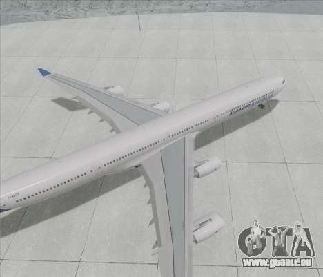 Airbus A340-600 für GTA San Andreas zurück linke Ansicht