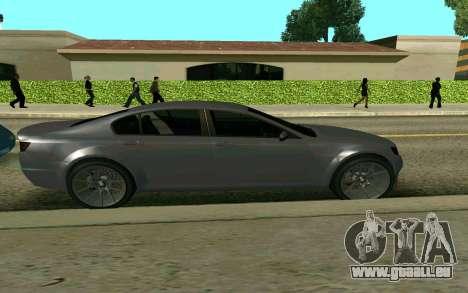 GTA V Fugitive pour GTA San Andreas sur la vue arrière gauche