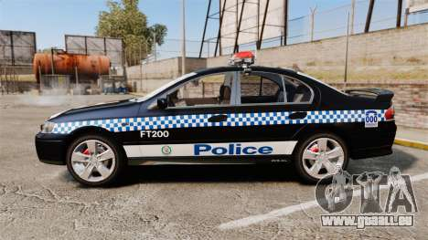 Ford BF Falcon XR6 Turbo Police [ELS] für GTA 4 linke Ansicht