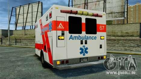 Brute Luxaid Ambulance [ELS] pour GTA 4 Vue arrière de la gauche