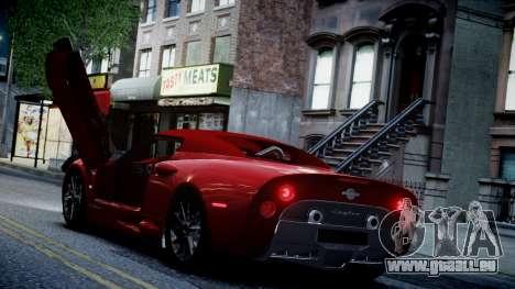 Spyker C8 Aileron Spyder v2.0 pour GTA 4 est une vue de dessous