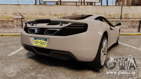McLaren MP4-12C 2012 [EPM] pour GTA 4 Vue arrière de la gauche