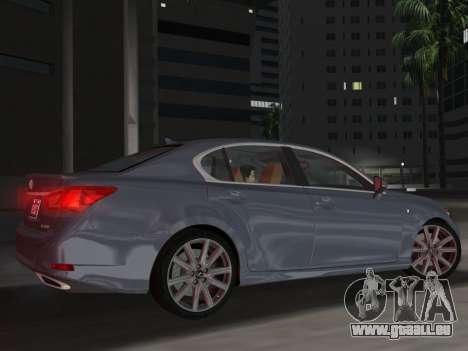 Lexus GS350 F Sport 2013 pour GTA Vice City vue latérale