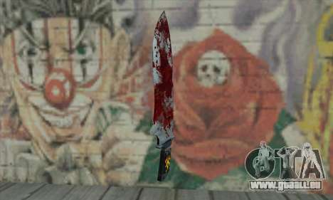 Large bloody knife pour GTA San Andreas