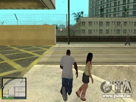 GTA 5 HUD v2 für GTA San Andreas fünften Screenshot