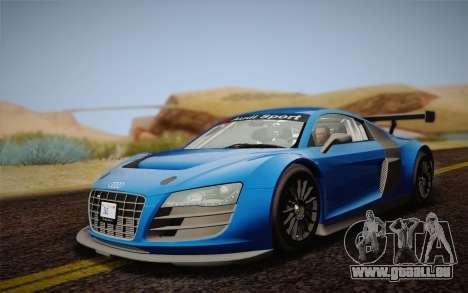 Audi R8 LMS v2.0.4 DR pour GTA San Andreas laissé vue