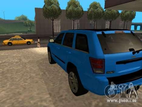 Jeep Grand Cherokee SRT8 Restyling M für GTA San Andreas zurück linke Ansicht