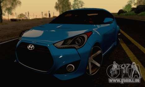 Hyundai Veloster für GTA San Andreas Rückansicht