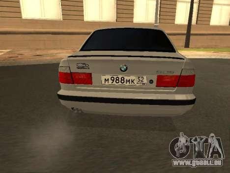 BMW 525 Smotra pour GTA San Andreas sur la vue arrière gauche