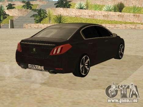 Peugeot 508 2011 v2 für GTA San Andreas rechten Ansicht