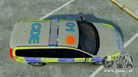 Volvo V70 Metropolitan Police [ELS] pour GTA 4 est un droit