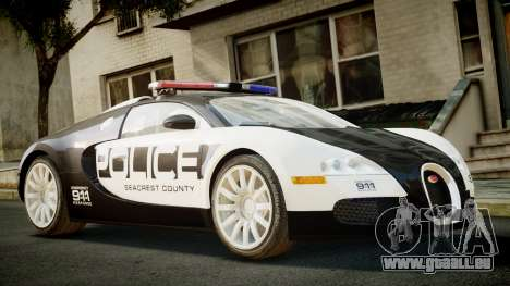 Bugatti Veyron 16.4 Police NFS Hot Pursuit für GTA 4