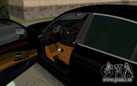 BMW 530xd pour GTA San Andreas sur la vue arrière gauche