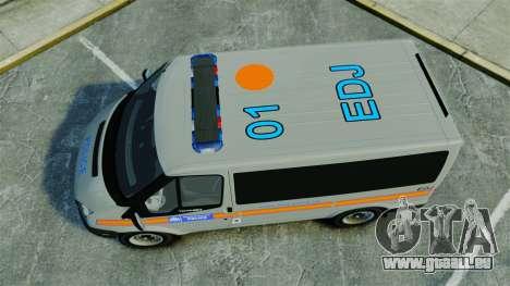 Ford Transit Metropolitan Police [ELS] für GTA 4 rechte Ansicht