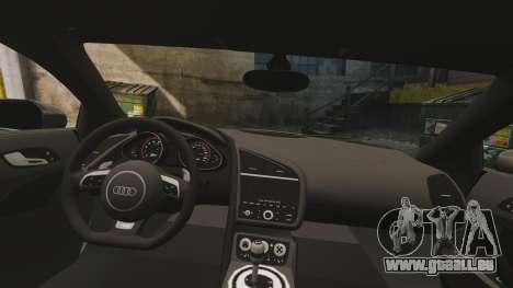 Audi R8 V10 plus Coupe 2014 [EPM] pour GTA 4 est un côté
