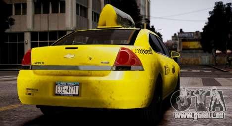 Chevrolet Impala 2006 Такси für GTA 4 rechte Ansicht