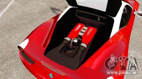 Ferrari 458 Italia pour GTA 4 est une vue de l'intérieur