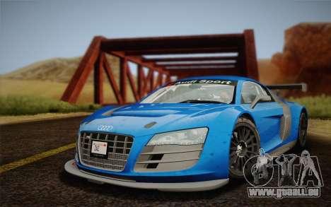 Audi R8 LMS v2.0.4 DR pour GTA San Andreas sur la vue arrière gauche
