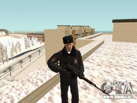 Pak policiers en uniformes d'hiver pour GTA San Andreas septième écran